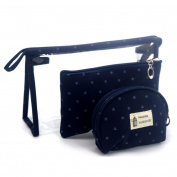 Cosmetic Bag,Hunzed 3pcs Cosmetic Toiletry Case Travel Wash Make Up Bag Holder Pouch Kits Set