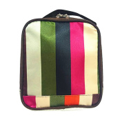 Travel Cosmetic Makeup Bag Toiletry Organiser Multi-Colour Stripe Storage Pouch
