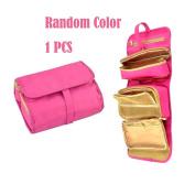 Garrelett Hanging Cosmetic Bag, Waterproof Folding Makeup Case/Travel Toiletry Organiser for Woman Man
