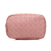 Makeup Bag Travel Cosmetic Bags, New Waterproof Large Travel Case Brush Pouch Toiletry Organiser for Phone with Zipper Pink