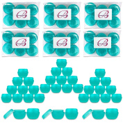 Beauticom 36 Pieces 30G/30ML (1 Oz) Teal Frosted Container Jars with Inner Liners for Scrubs, Oils, Salves, Creams, Lotions, Medication, Cosmetics - BPA Free