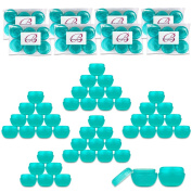 Beauticom 48 Pieces Teal Container Jars with Inner Liner and Lid for Scrubs, Oils, Salves, Creams, Lotions, Makeup Cosmetics, Nail Accessories, Beauty Aids - BPA Free