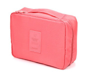 Dreubea Makeup Cosmetic Bags Travel Toiletry Kits Organiser for Women and Men Red
