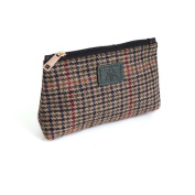 Irish Designed Cheque Houndstooth Cosmetic Bag