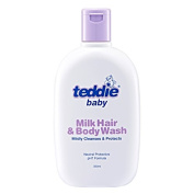 MUST BUY ! 2 Bottle COSWAY Teddie Baby Milk Hair & Body Wash ( 350ml ) Midly Cleansers & Protects