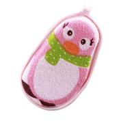 TRIEtree Infant Cartoon Super Soft Cotton Brush Sponge Rubbing Towel Cute Animal Pattern for Baby Children