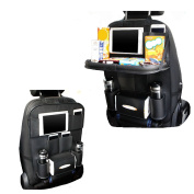 Backseat Car Organiser with Tablet Holder, OTCPP Travel Accessories Auto Seat back Storage bag with Tray for Kids Baby
