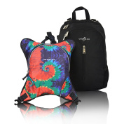 Obersee Rio Nappy Bag Backpack with Detachable Cooler, Tie Dye