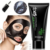 Blackhead Remover Mask, CieKen Deep Cleansing Peel Off Black Mask, Bamboo Charcoal Peel Off Mask Smoothen Fine Lines & Eliminate Blemishes
