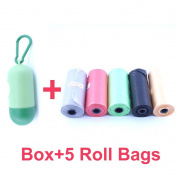5 Rolls Disposable Nappy Refill Bags with Free Nappy Bag Dispenser,Unscented,Colour May Vary