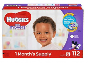 Huggies Little Movers Baby Infant Disposable Nappies (Various Sizes Available) (Size