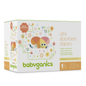 Babyganics Ultra Absorbent Nappies, Size 1