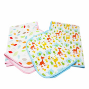 NinkyNonk Infant 3 Layers Waterproof Changing Pad Liners Baby Washable Nappies Sheet Protector,4 Pack