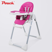 POUCH baby highchair, adjustable baby dining chair, fold feed chair