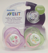 Avent Freeflow Soother Twin Pack 18m+