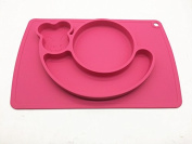 snail silicone baby placemat - square - pink