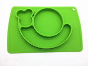 snail silicone baby placemat - square - green