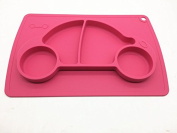 Car silicone baby placemat - square - pink