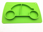 Car silicone baby placemat - square - green