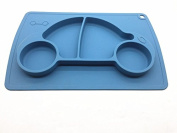 Car silicone baby placemat - square - blue