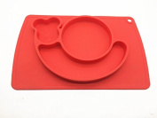 snail silicone baby placemat - square - red