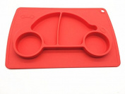 Car silicone baby placemat - square - red