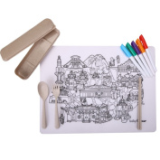 baby Colour Placemat -map