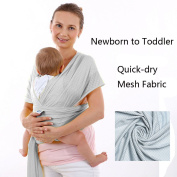 Baby Wrap for Newborns,Infants,Toddlers in Summers,Beach,Shower,Soft Breathable Quick Dry Mesh fabric Carrier,One Size Fits all Mom and dad ,Adjustable Sling for Hip,Back,Front,Breastfeeding Position