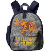 A Brown Yellow Camouflage Elephant 18 School Bookbags For Children, Floral Backpack College Bags Daypack