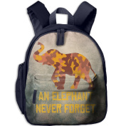 A Brown Yellow Camouflage Elephant 5 School Bookbags For Children, Floral Backpack College Bags Daypack