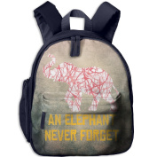 Red And White Stripes Camouflage Elephants 3 School Bookbags For Children, Floral Backpack College Bags Daypack