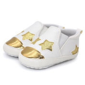 Vmree Toddler Baby Girl Boys Star Embroidery Shoes Anti-slip Soft Sole Sport Sneaker