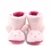 Vmree Toddler Newborn Baby Girls Cute Rabbit Boots Soft Sole Prewalker Warm Shoes