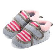 Vmree Baby Outdoor Stripe Shoes Infant Newborn Baby Boy Girl Slip First Walker Boots