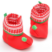 Vmree Newborn Infant Baby Boy Girl Christmas Boot Shoes Soft Sole Anti-slip Boot