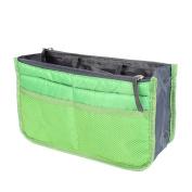 Unique Bargains Portable Cosmetic Makeup Storage Handbag Tote Insert Purse Organiser Pouch Bag