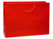 """Red Gloss Vogue Gift Bags (100 Pack ) 16x 6"""" x 30cm"""