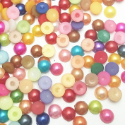 "Dandan DIY 400pcs 8mm(0.3"") Mix Lots Colourful Half Ball Plastic Pearl Craft Flower Making Art Album Scrapbooking Embellishments Diy Decoration Scrapbooking Phonecover Card Craft Accessory"