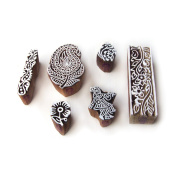 Hand Crafted Krishna and Paisley Motif Wood Print Stamps