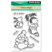 Penny Black Merry Delight Clear Unmounted Rubber Stamp Set