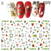 Fullfun 3D Nail Art Stickers,Christmas Snowflakes and Cute Snowmen Nail Sticker