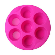Delidge 7 Cavity Silicone Cupcake Cake Muffin Chocolate Pudding Baking Tray Pan Moulds Tools