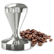 Coffee Tamper for DIY Espresso 49mm Stainless Steel Flat Base Professional Barista Espresso Bean Press Tool