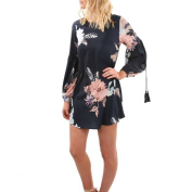 Women's Dress Neartime Floral Long Sleeve Printed Short Mini Dress Casual Party Evening
