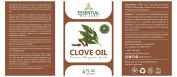 Clove Essential Oil, 120ml with Glass Dropper - 100% Pure and Natural from Essential Oil Labs