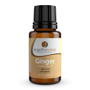 Earthroma Ginger Essential Oil - 100% Pure, Undiluted, Therapeutic Grade, 15ml