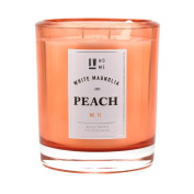 Decoware DW Home Richly Scented Large Double Wick Candle 400ml --- White Magnolia and Peach