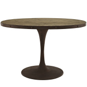 Modway Drive Oval Wood Top Dining Table, 120cm , Brown