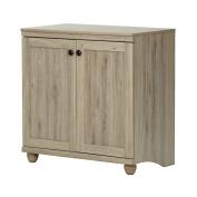 South Shore Hopedale 2-Door Storage Cabinet, Rustic Oak