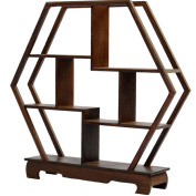 NWFashion Chinese Wooden Assemble Display Stand Home & Office Square Decoration Curio Cabinets Shelf